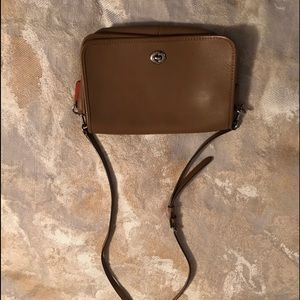 Coach smooth-leather east-west crossbody bag